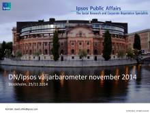DN/Ipsos väljarbarometer november 2014: Dött lopp mellan Alliansen och de rödgröna