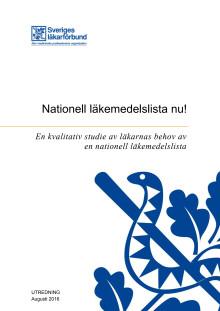 Nationell läkemedelslista nu!