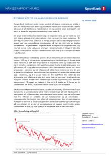 Makrorapport oktober 2018: Stigende renter og handelskrig gir børsfall