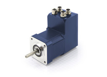 Compact brushless DC servo motor with integrated controller