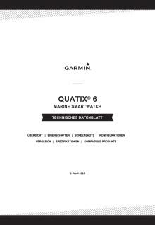 Datenblatt Garmin quatix 6 Serie