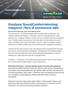 Goodyear SoundComfort-teknologi integreret i flere af sommerens dæk