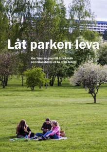 Låt parken leva - kampanjfolder under Järvaveckan 2018