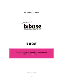 Rapport om bibu.se 2008