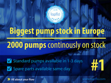Largest Pumps and spare parts stock in Europe to instantly respond to global market demands.