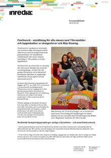 Patchwork – utställning för alla sinnen med Tibromöbler och lapptekniker av designelever och Mija Kinning