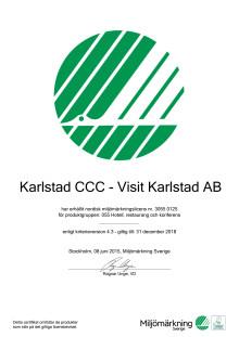 Svanencertifikat Visit Karlstad AB