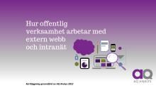 Rapport - kartläggning av publiceringsverktyg inom offentlig verksamhet