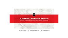 Portfolio, Alejandro Mandrión Moreno, Michael Treschow-stipendiat