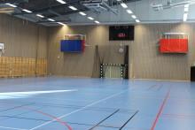 Nya fullstora idrottshallen Lyckebyhallen invigd