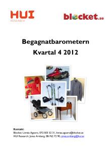 Begagnatbarometern Q4, 2012