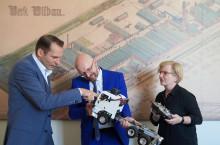 Staatssekretär Thomas Kralinski informierte sich an der TH Wildau über die Digitalisierung an der Hochschule