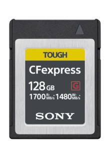 A Sony desenvolve um cartão de memória CFexpress Tipo B com velocidades de leitura e de gravação ultrarrápidas de até 1700 MB/s.  e 1480 MB/s.