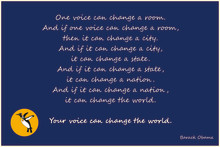 Your voice can change the world