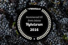 Wineworld nominerade till Årets Nyhetsrum 2016!