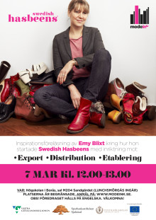 7 mars 12.00-13.00 Emy Blix, swedish hasbeens