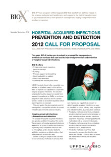 BIO-X Call 2012 Hospital-acquired infections