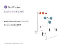 Grant Thorntons Dealtracker - rapport över företagstransaktionerna 2012
