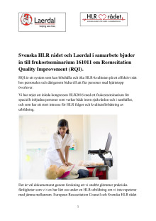 Frukostseminarium 11 oktober 2016 om RQI
