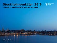 Presentation Stadsövergripande resultat Stockholmsenkäten 2016