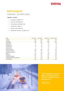 Svevia delårsrapport januari - mars