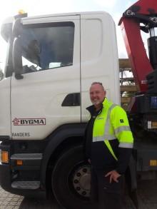 25 år som chauffør i Bygma Randers