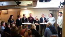 Framtidens politiska makthavare diskuterade Östersjön i fullsatt salong på briggen Tre Kronor under Hållbara Hav seminarie i Almedalen