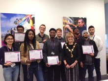 Mayor of Enfield celebrates 'Work Ready' young people