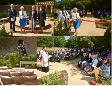 New police memorial garden unveiled to remember those who served with Hampshire Constabulary