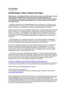 Värdebarometern 2015 Ekerös kommun