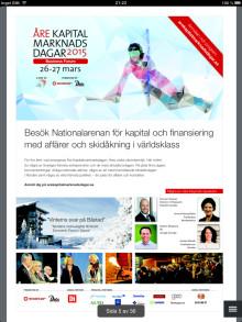 Inbjudan Åre Kapitalmarknadsdagar 26-27 mars 2015