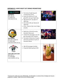 Clarke Quay Ladies Night Out Drinks Promotions