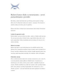 Rašireni kancer dojke sa metastazama – saveti pacijentkinjama i porodici – Fakta om spridd bröstcancer på bosniska, kroatiska, serbiska