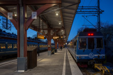 Ny belysning på Östra Station