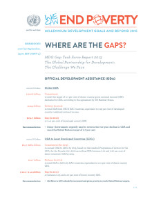 Fast Facts MDG Gap Task Force Report 2013