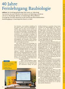 W+G 163 - 40 Jahre Fernlehrgang Baubiologie IBN