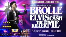 Brolle åker på turné med succéshowen Elvis, Cash, The Killer & Me och Kommer till Sparbanken Lidköping Arena