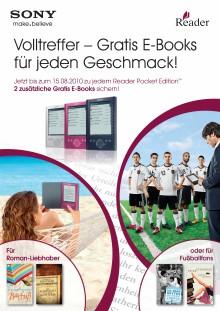 Die Leseoffensive im Fußball-Sommer: Gratis E-Books für den Reader von Sony