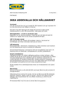 Fakta IKEA Uddevalla och hållbarhet