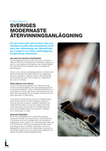 Sveriges modernaste återvinningsanläggning - karta