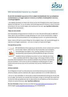 SISU Idrottsböcker lanserar ny e-handel