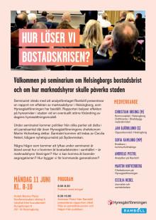 Seminarium om Helsingborgs bostadsbrist den 11 juni