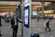 Oslo Airport opens self-service information kiosks