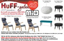 Lämna bud på möbler från Mio! Viktig info till dig som ska på HuFF-galan och möjlighet att vara med på auktion även om du inte ska gå...