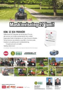 Maskinvisning i Matfors (Sundsvall) 27:e juni!