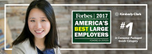 Kimberly Clark ranked #1 CPG company on 2017 Forbes America's Best Employers list