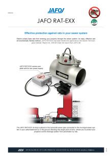 JAFO RAT-EXX - Electronic Rat Stop Product Brochure