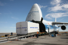 EUTELSAT 5 West B delivered to Baikonur Cosmodrome for pre-launch preparation