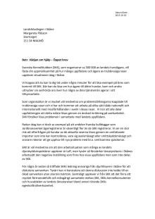 Öppet brev till landshövdningen i Skåne