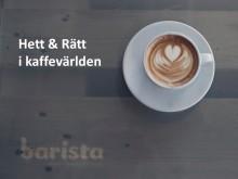 Föredrag om kaffetrender på FastFood&Cafémässan ons 28/1 12.45.